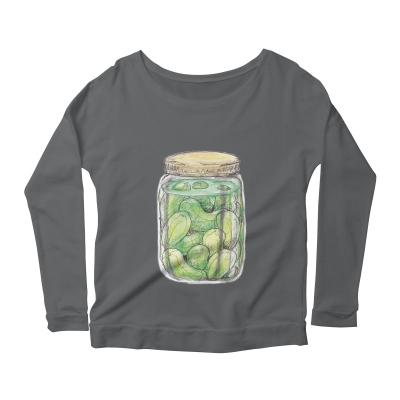 Pickle Jar Women's Scoop Neck Longsleeve T-Shirt by The Pickle Jar's Artist Shop