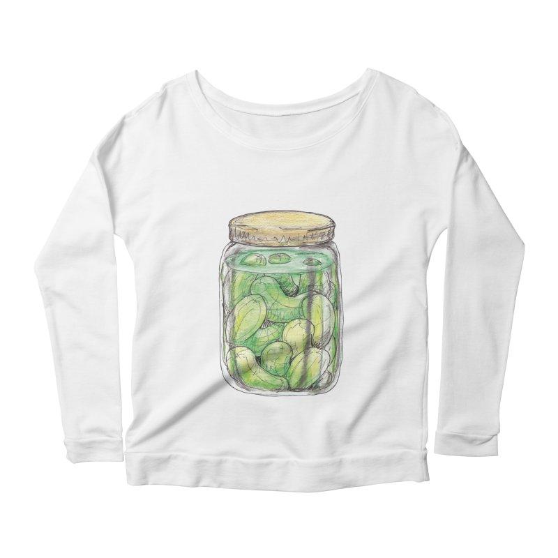 Pickle Jar Women's Longsleeve Scoopneck  by The Pickle Jar's Artist Shop
