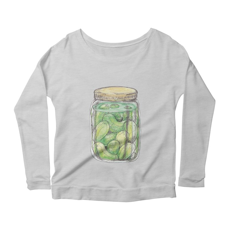 Pickle Jar Women's Longsleeve Scoopneck  by The Pickle Jar's Artist Shop