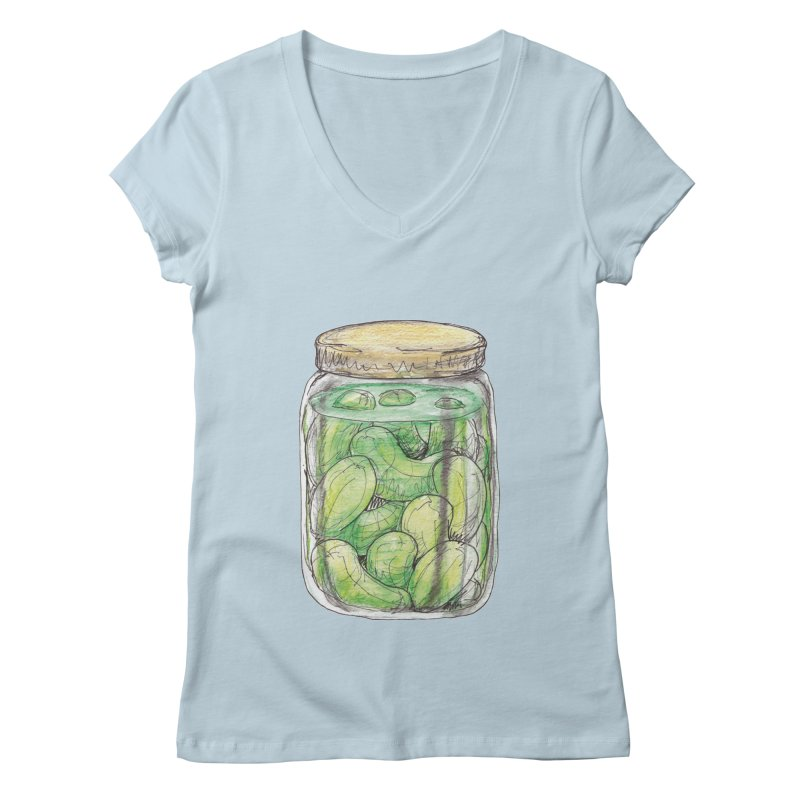 Pickle Jar Women's Regular V-Neck by The Pickle Jar's Artist Shop