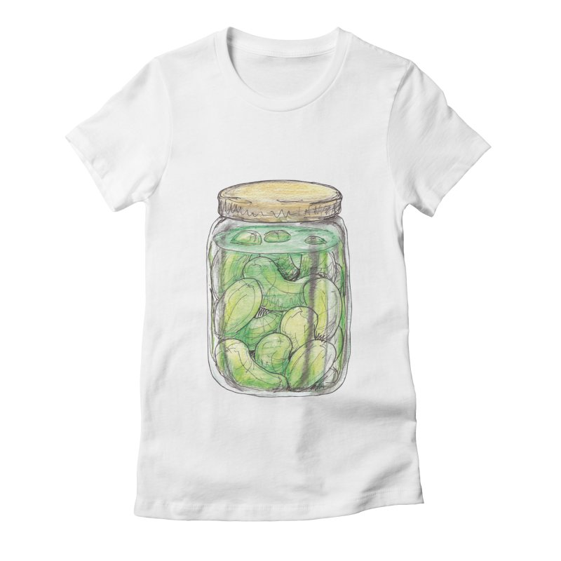 Pickle Jar Women's Fitted T-Shirt by The Pickle Jar's Artist Shop