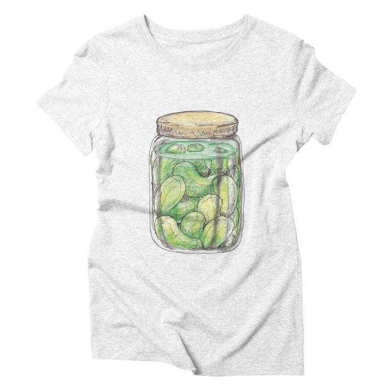Pickle Jar Women's Triblend T-shirt by The Pickle Jar's Artist Shop