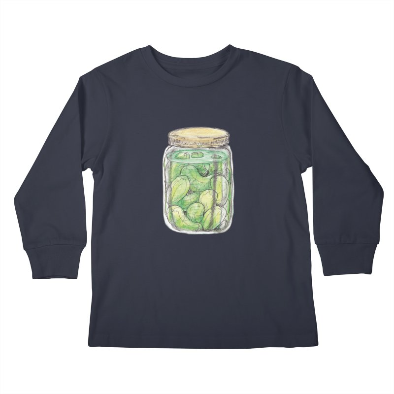 Pickle Jar Kids Longsleeve T-Shirt by The Pickle Jar's Artist Shop