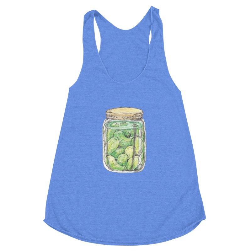 Pickle Jar Women's Racerback Triblend Tank by The Pickle Jar's Artist Shop