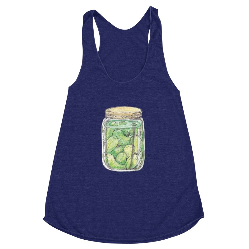 Pickle Jar Women's Racerback Triblend Tank by The Pickle Jar's Artist Shop