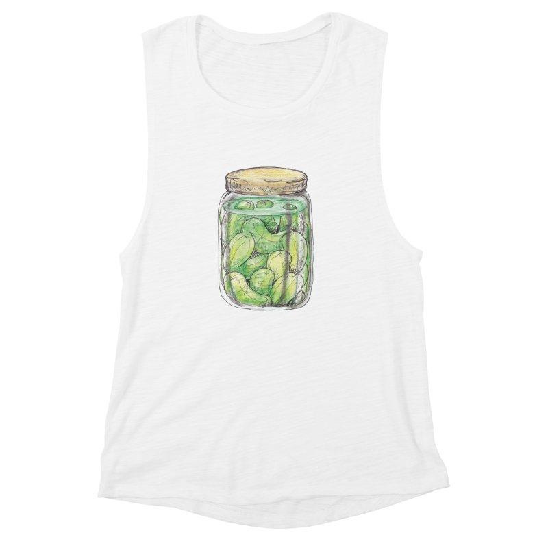 Pickle Jar Women's Muscle Tank by The Pickle Jar's Artist Shop