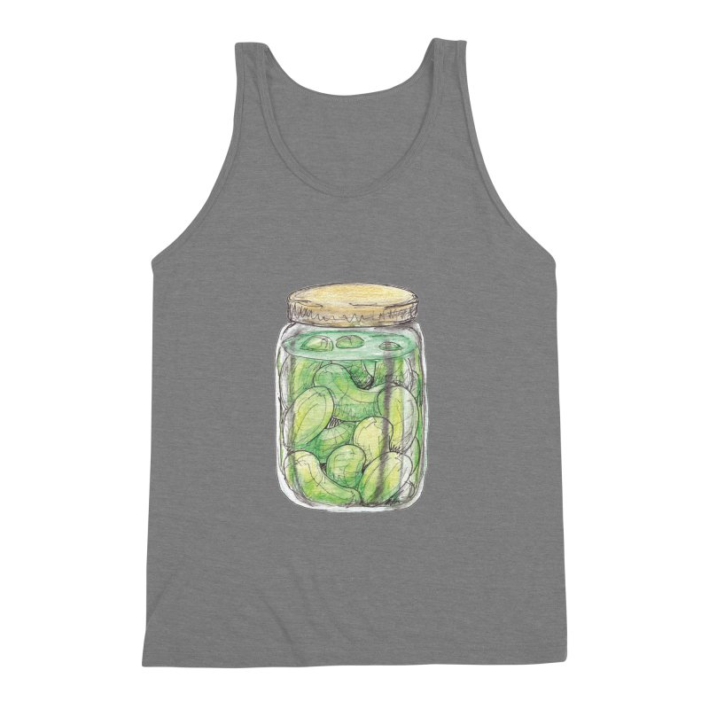 Pickle Jar Men's Triblend Tank by The Pickle Jar's Artist Shop