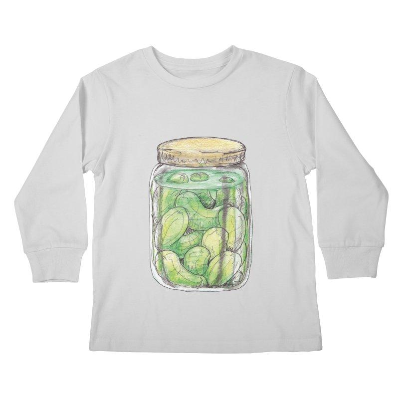 Pickle Jar Kids Longsleeve T-Shirt by The Pickle Jar's Artist Shop
