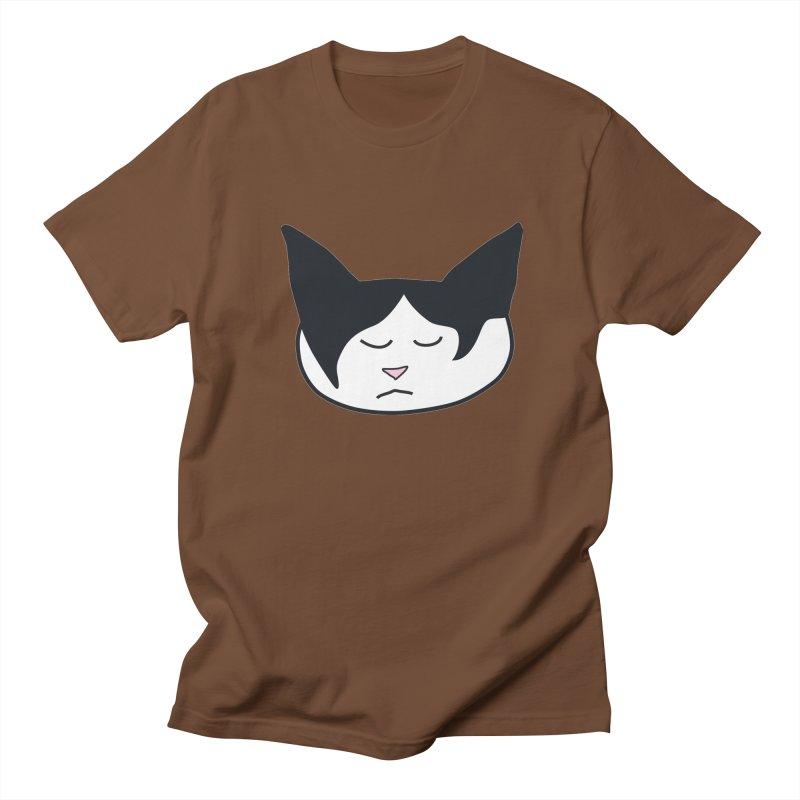 Sleepy Cat Men's Regular T-Shirt by The Pickle Jar's Artist Shop