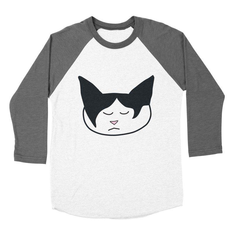 Sleepy Cat Men's Baseball Triblend Longsleeve T-Shirt by The Pickle Jar's Artist Shop