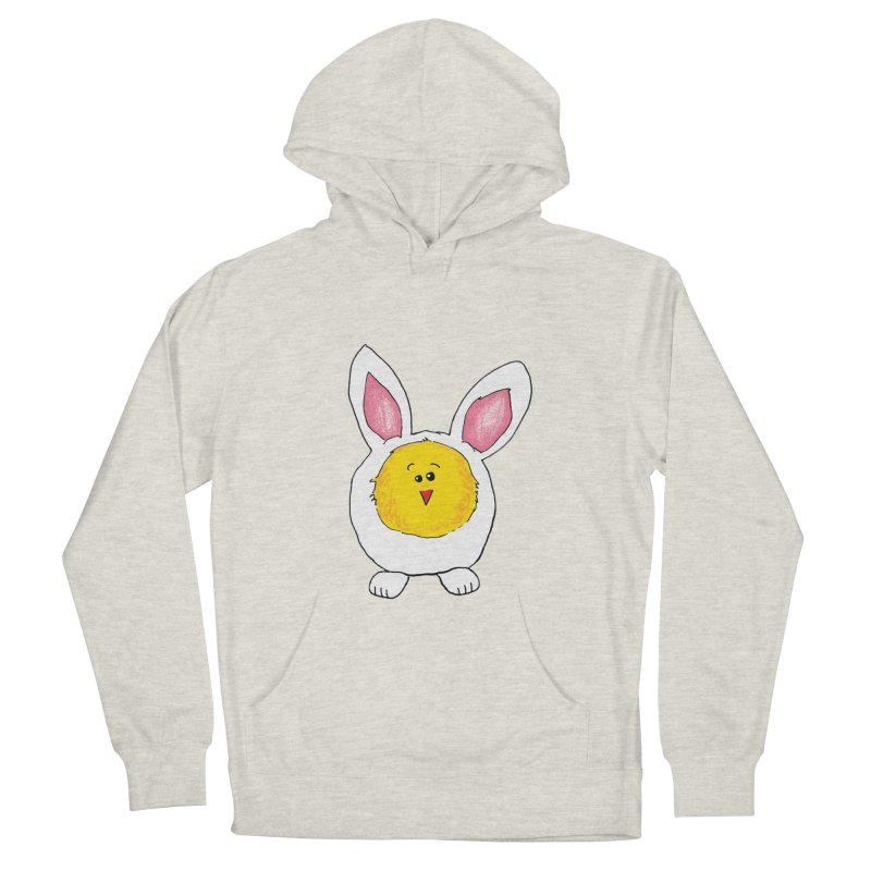 Chick in a Bunny Suit Men's French Terry Pullover Hoody by The Pickle Jar's Artist Shop