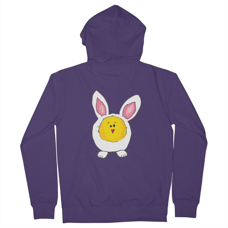 Chick in a Bunny Suit Women's French Terry Zip-Up Hoody by The Pickle Jar's Artist Shop