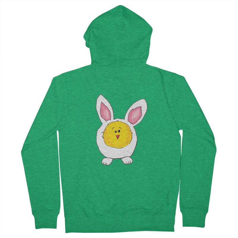 Chick in a Bunny Suit Men's Zip-Up Hoody by The Pickle Jar's Artist Shop
