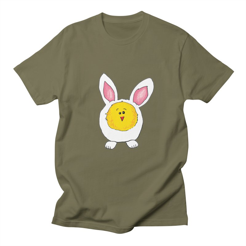 Chick in a Bunny Suit Men's Regular T-Shirt by The Pickle Jar's Artist Shop