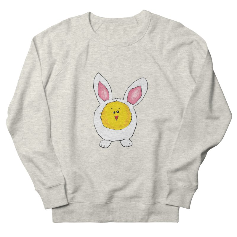 Chick in a Bunny Suit Women's French Terry Sweatshirt by The Pickle Jar's Artist Shop
