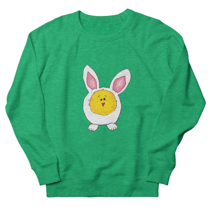 Chick in a Bunny Suit Men's French Terry Sweatshirt by The Pickle Jar's Artist Shop