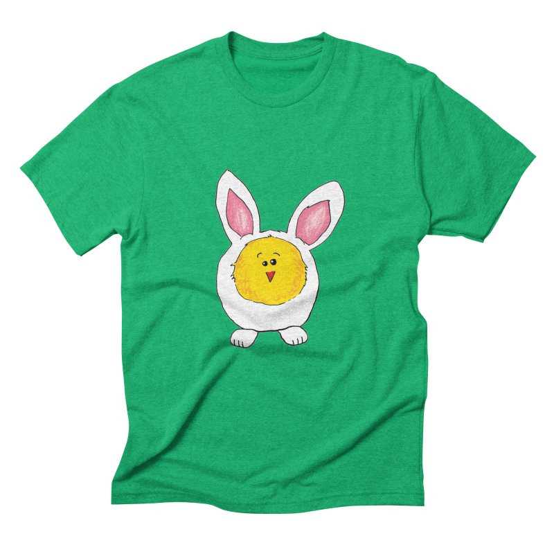 Chick in a Bunny Suit Men's Triblend T-Shirt by The Pickle Jar's Artist Shop