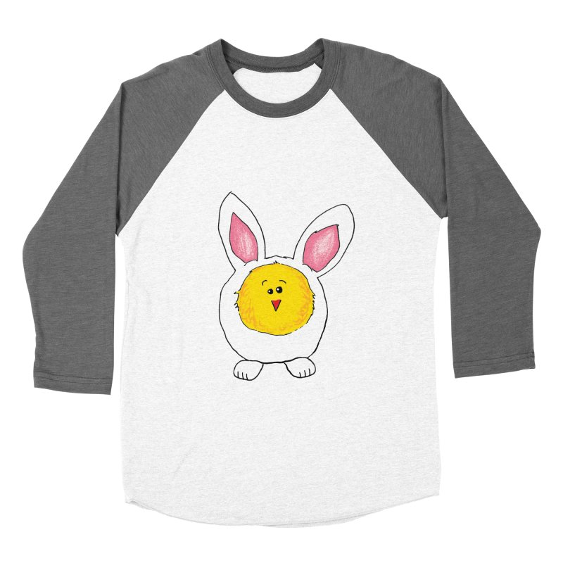 Chick in a Bunny Suit Women's Baseball Triblend T-Shirt by The Pickle Jar's Artist Shop