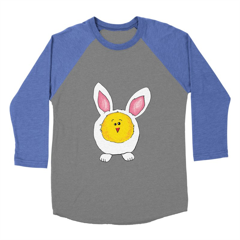 Chick in a Bunny Suit Women's Baseball Triblend Longsleeve T-Shirt by The Pickle Jar's Artist Shop