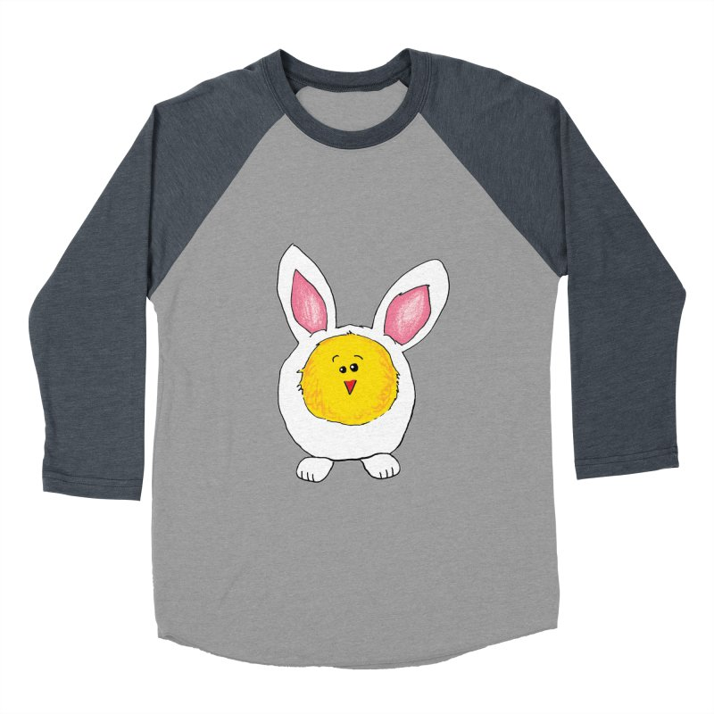 Chick in a Bunny Suit Men's Baseball Triblend Longsleeve T-Shirt by The Pickle Jar's Artist Shop