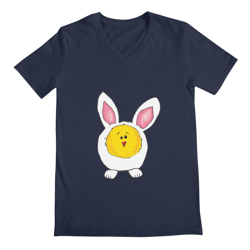 Chick in a Bunny Suit Men's V-Neck by The Pickle Jar's Artist Shop