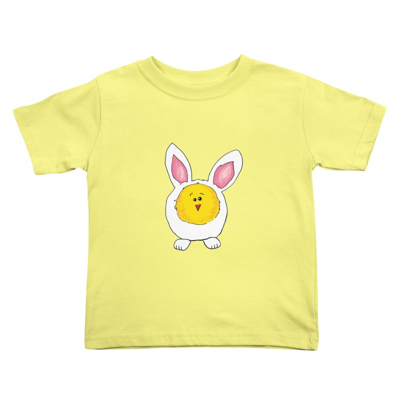 Chick in a Bunny Suit Kids Toddler T-Shirt by The Pickle Jar's Artist Shop