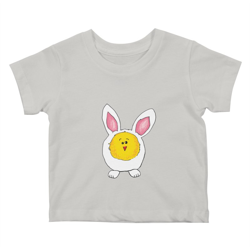 Chick in a Bunny Suit Kids Baby T-Shirt by The Pickle Jar's Artist Shop