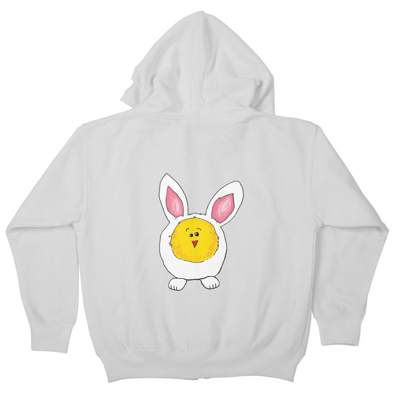 Chick in a Bunny Suit Kids Zip-Up Hoody by The Pickle Jar's Artist Shop