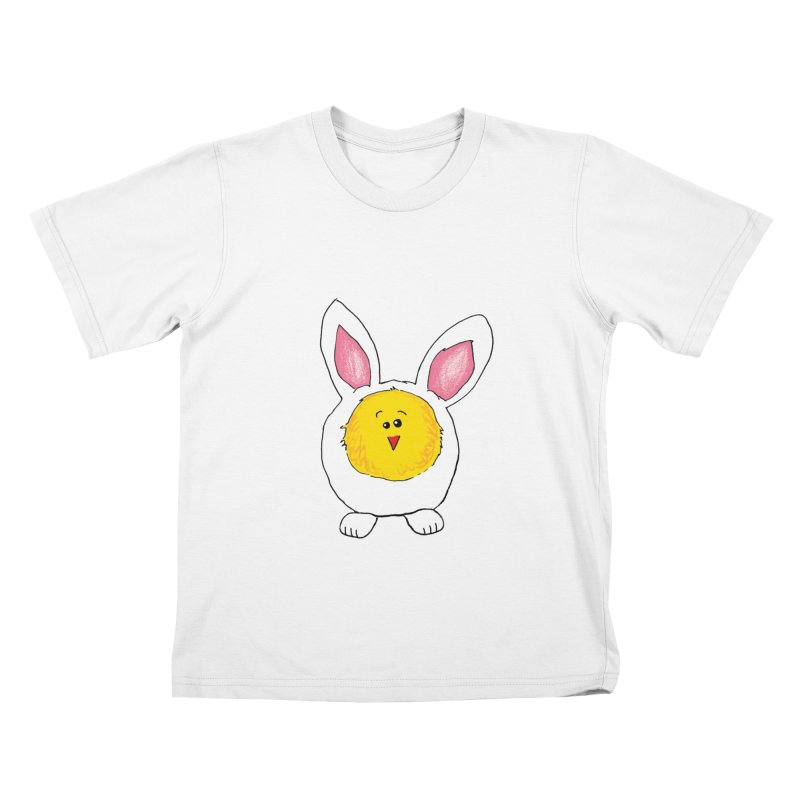 Chick in a Bunny Suit Kids T-Shirt by The Pickle Jar's Artist Shop