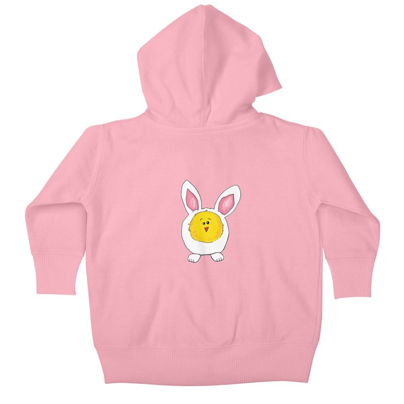 Chick in a Bunny Suit Kids Baby Zip-Up Hoody by The Pickle Jar's Artist Shop