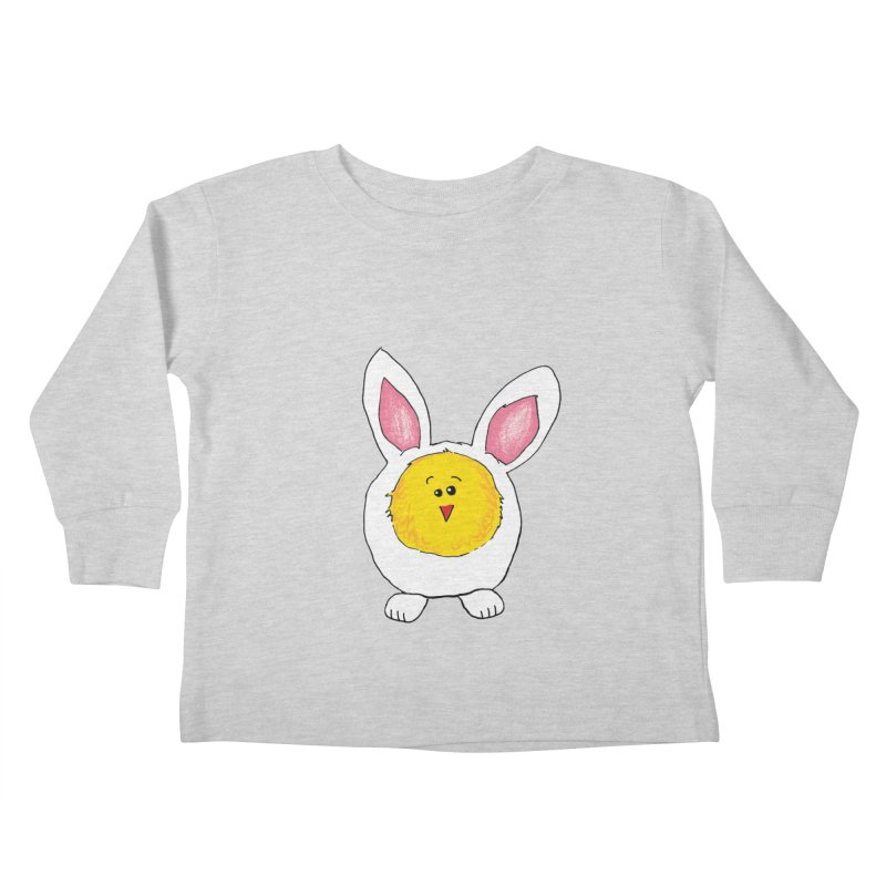 Chick in a Bunny Suit Kids Toddler Longsleeve T-Shirt by The Pickle Jar's Artist Shop