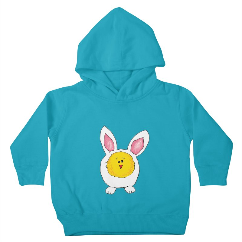Chick in a Bunny Suit Kids Toddler Pullover Hoody by The Pickle Jar's Artist Shop