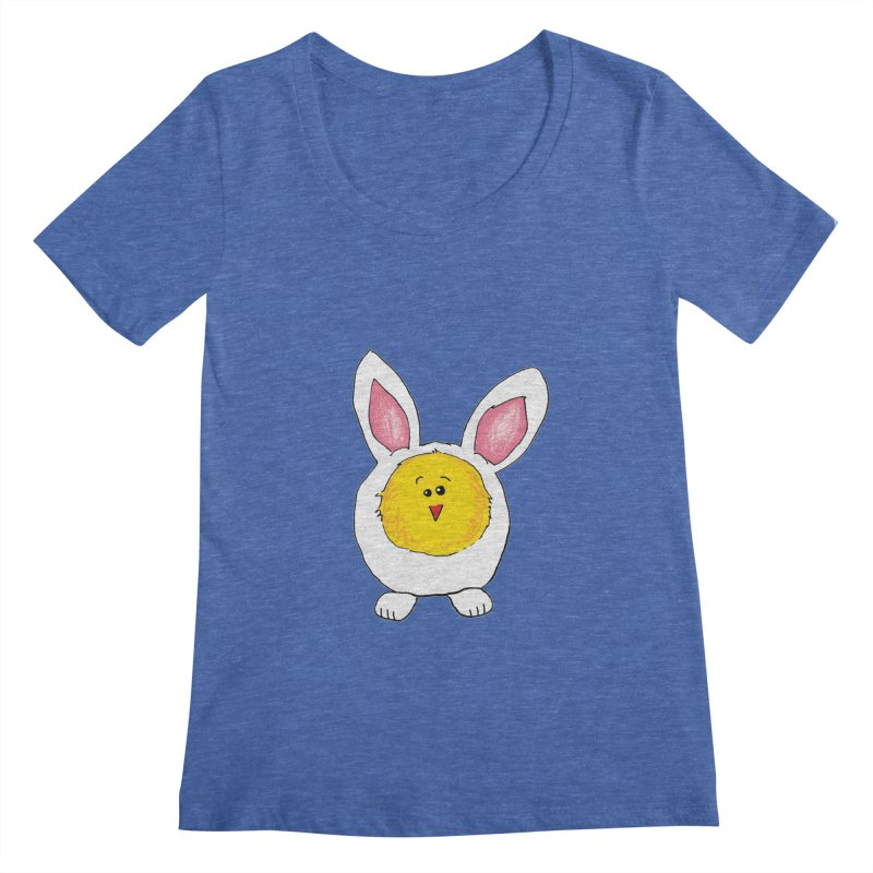 Chick in a Bunny Suit Women's Regular Scoop Neck by The Pickle Jar's Artist Shop
