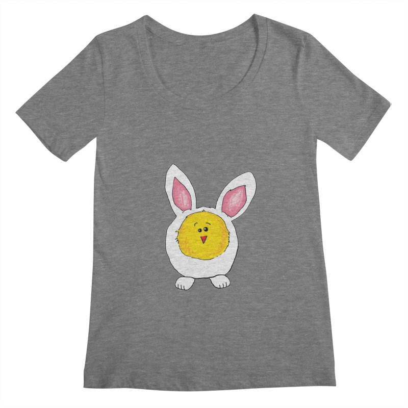 Chick in a Bunny Suit Women's Scoopneck by The Pickle Jar's Artist Shop