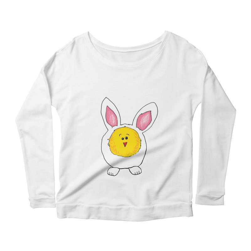 Chick in a Bunny Suit Women's Scoop Neck Longsleeve T-Shirt by The Pickle Jar's Artist Shop
