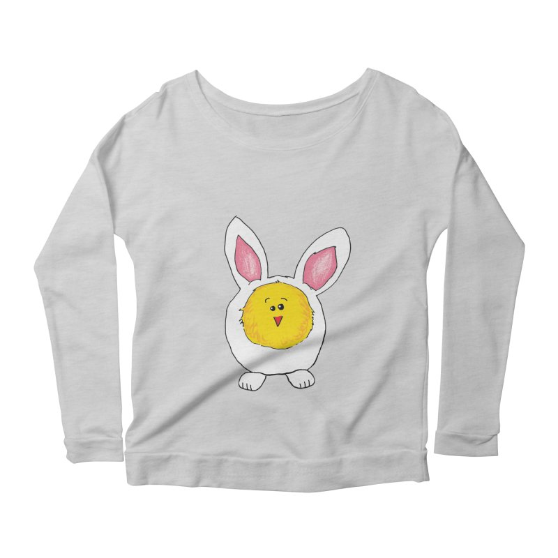 Chick in a Bunny Suit Women's Longsleeve Scoopneck  by The Pickle Jar's Artist Shop