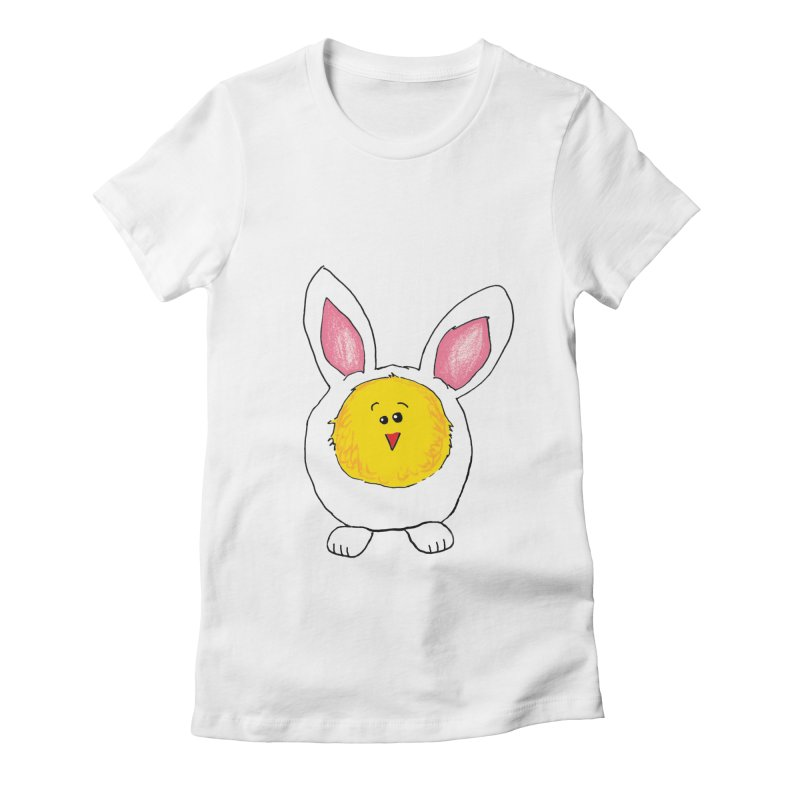 Chick in a Bunny Suit Women's Fitted T-Shirt by The Pickle Jar's Artist Shop