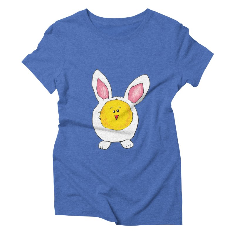 Chick in a Bunny Suit Women's Triblend T-Shirt by The Pickle Jar's Artist Shop