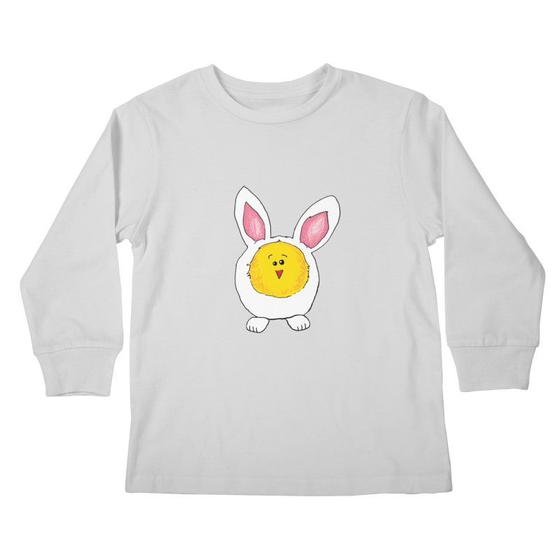 Chick in a Bunny Suit Kids Longsleeve T-Shirt by The Pickle Jar's Artist Shop