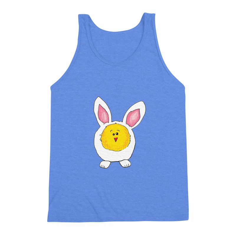 Chick in a Bunny Suit Men's Triblend Tank by The Pickle Jar's Artist Shop