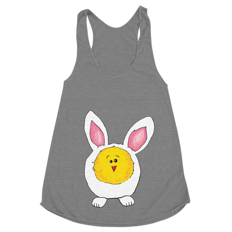 Chick in a Bunny Suit Women's Racerback Triblend Tank by The Pickle Jar's Artist Shop
