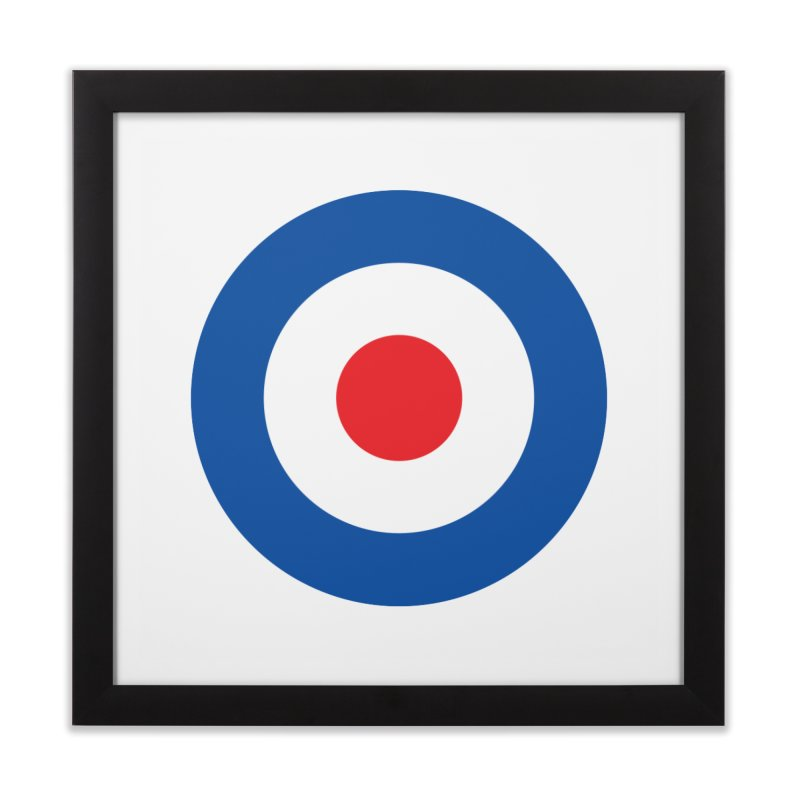 Mod target Home Framed Fine Art Print by The Pickle Jar's Artist Shop