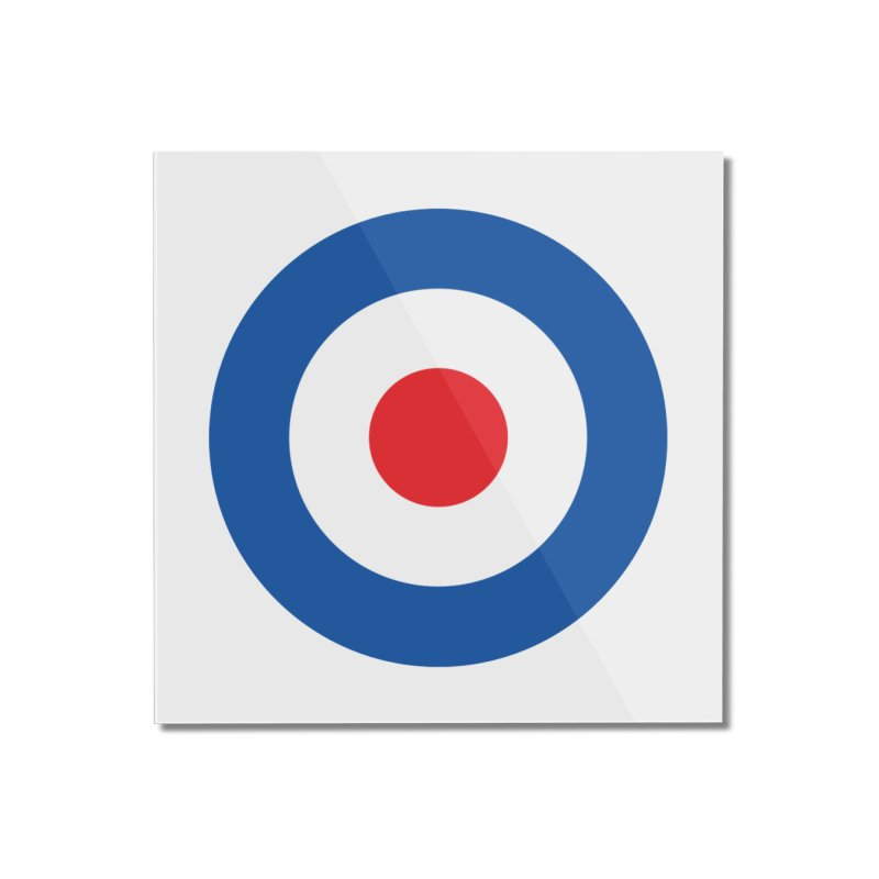 Mod target Home Mounted Acrylic Print by The Pickle Jar's Artist Shop