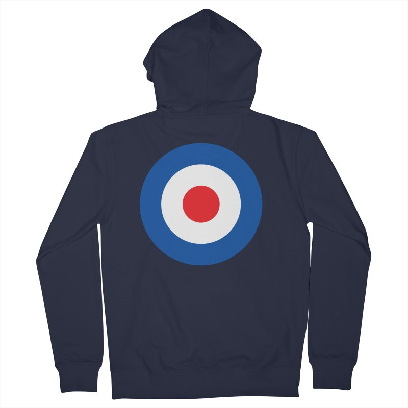 Mod target Men's French Terry Zip-Up Hoody by The Pickle Jar's Artist Shop