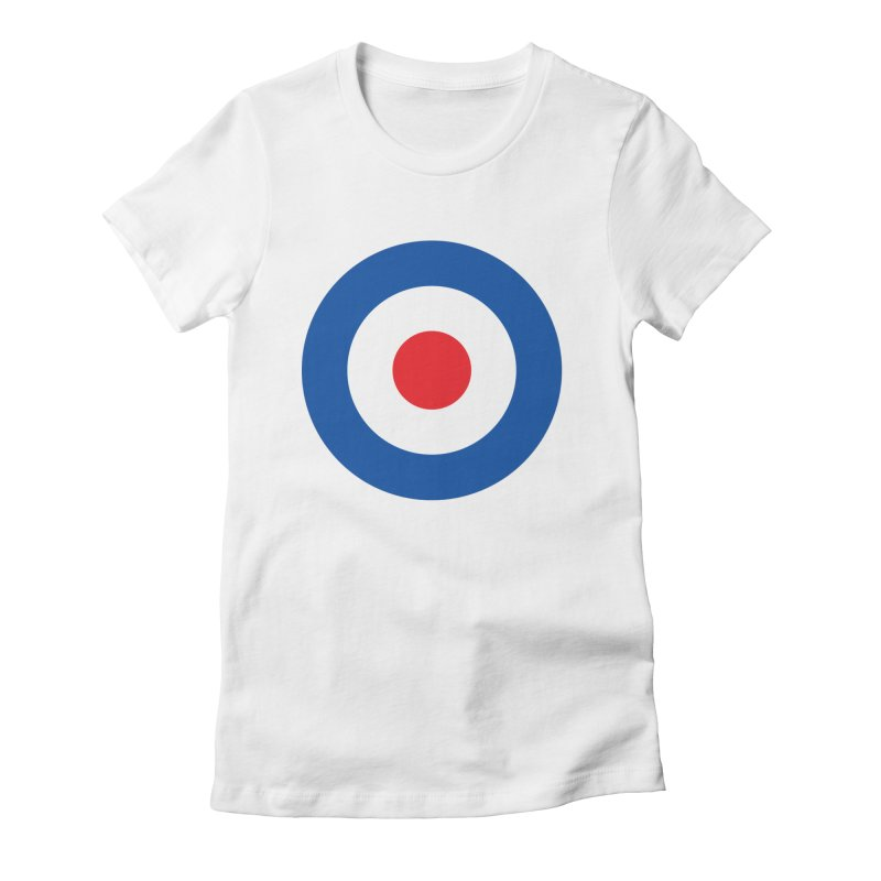 Mod target Women's Fitted T-Shirt by The Pickle Jar's Artist Shop
