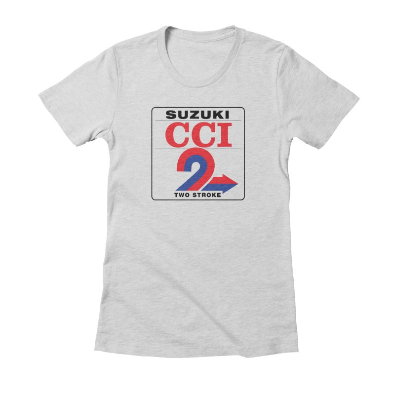 Classic 2 stroke Women's Fitted T-Shirt by The Pickle Jar's Artist Shop