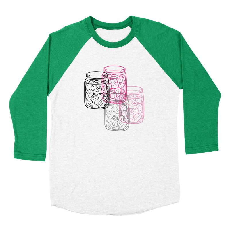 Pickle Jar frequencies Women's Baseball Triblend Longsleeve T-Shirt by The Pickle Jar's Artist Shop
