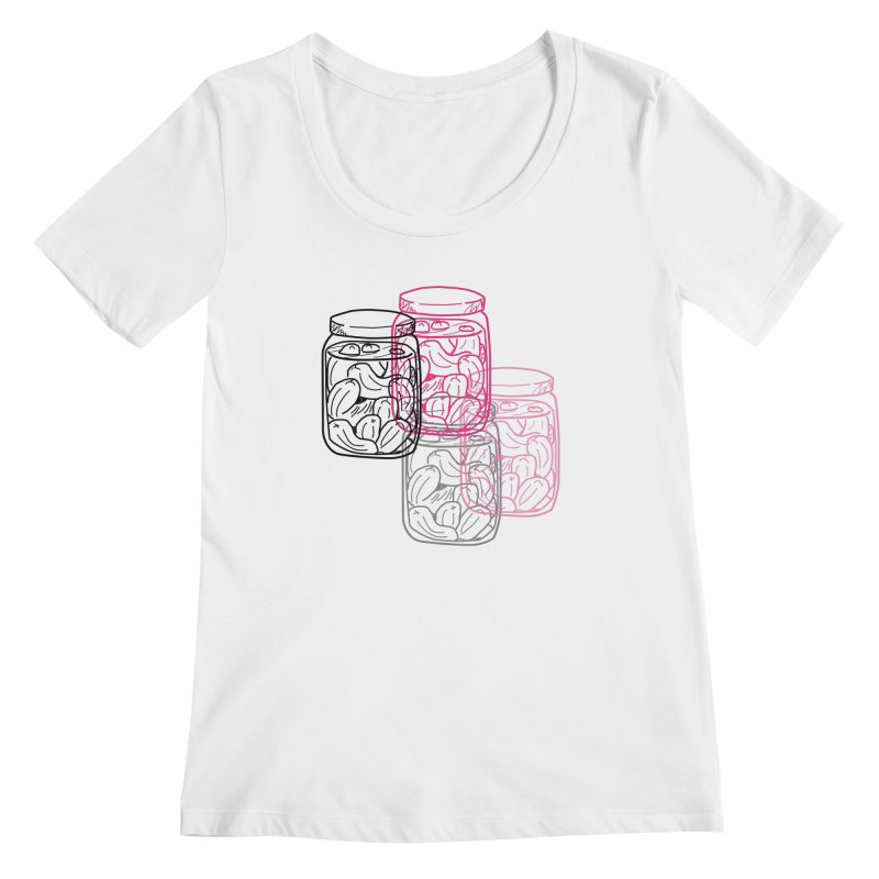 Pickle Jar frequencies Women's Regular Scoop Neck by The Pickle Jar's Artist Shop