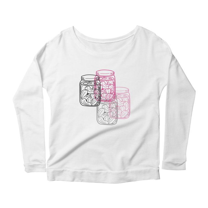Pickle Jar frequencies Women's Scoop Neck Longsleeve T-Shirt by The Pickle Jar's Artist Shop