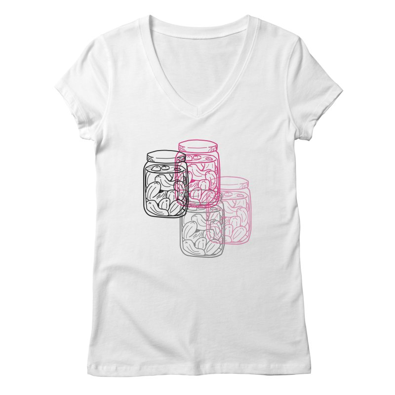 Pickle Jar frequencies Women's Regular V-Neck by The Pickle Jar's Artist Shop